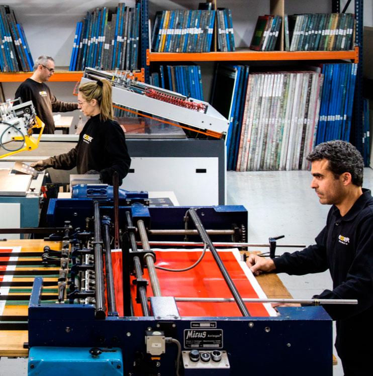 Taller de impresión de pegatinas en Barcelona