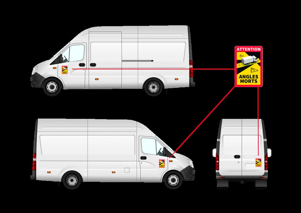Col·locació adhesiu 'angles morts' furgonetes