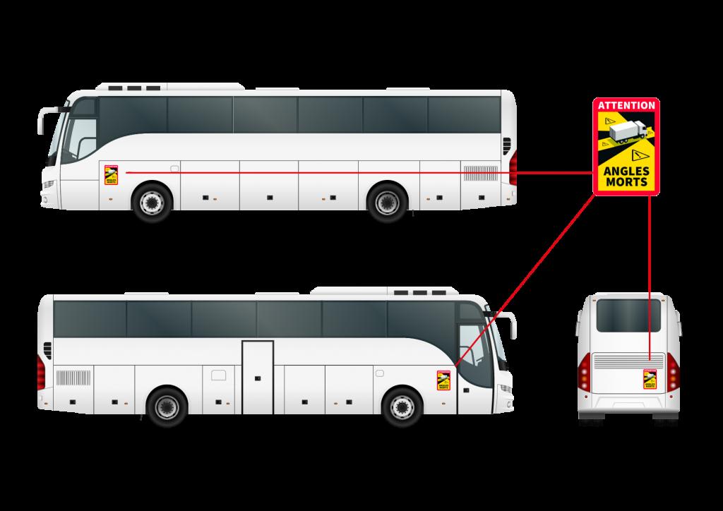 Col·locació adhesiu 'angles morts' autobusos